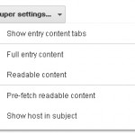 Super Google Reader Settings