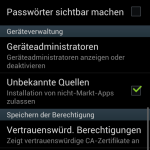 Sideloading von Android Apps