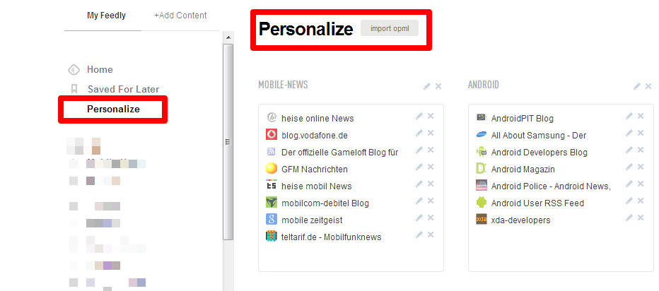 personalizeFeedly